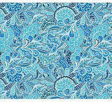Blue Pattern Photographic Print