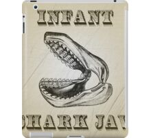 Infant shark jaw, Victorian antique iPad Case/Skin