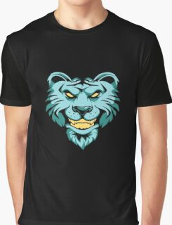 Blue Tiger Graphic T-Shirt