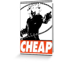 Ghost Rider Cheap Obey Design Greeting Card