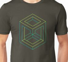 Impossible Shapes: Cube Outline Unisex T-Shirt