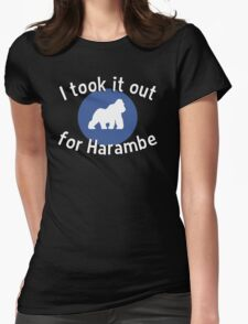I took it out for Harambe Womens Fitted T-Shirt