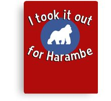 I took it out for Harambe Canvas Print