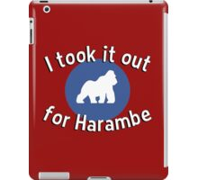 I took it out for Harambe iPad Case/Skin