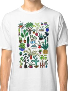 I Want All the Plants Watercolor Painting Classic T-Shirt