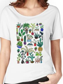 I Want All the Plants Watercolor Painting Women's Relaxed Fit T-Shirt