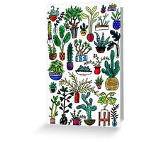 I Want All the Plants Watercolor Painting Greeting Card