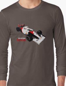 Ayrton Senna - McLaren MP4/6 Long Sleeve T-Shirt