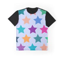 Colorful Stars Graphic T-Shirt