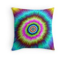 Tie Dye Explosion Throw Pillow