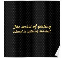 """The secret of... """"Mark twain"""" Inspirational Quote Poster"""