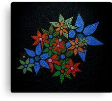 Retro Trendy Floral Pattern Canvas Print