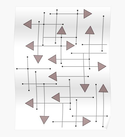 Lines & Arrows Poster