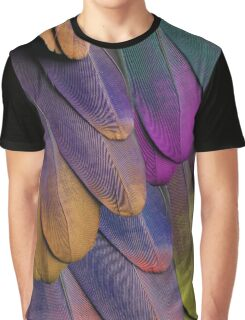 Techno Feathers Graphic T-Shirt