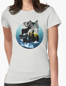 Alaska Wildlife Womens Fitted T-Shirt