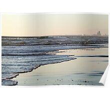 Beach Sunset Ormond Beach Poster