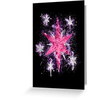 Twilight Sparkle CM Splatter Greeting Card