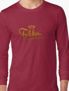 Fokker Vintage Aircraft Long Sleeve T-Shirt