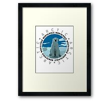 North Pole, The Arctic Framed Print