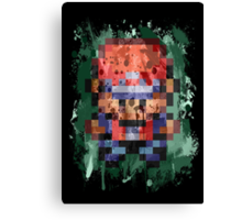 16-Bit Red Splatter Canvas Print