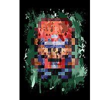 16-Bit Red Splatter Photographic Print