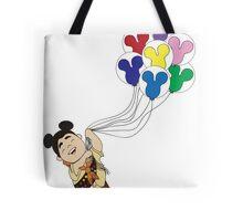 Up + Mickey Balloons Tote Bag