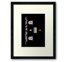 Take One of These Framed Print