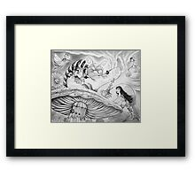 Who are YOU? (Alice and the Caterpillar) Framed Print