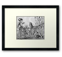 Off with their heads! (Alice and the Queen of Hearts) Framed Print