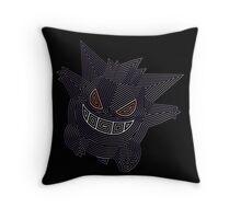 Ornate Gengar Throw Pillow