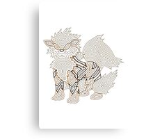 Ornate Arcanine Canvas Print