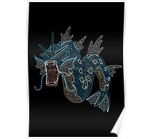 Ornate Gyarados Poster
