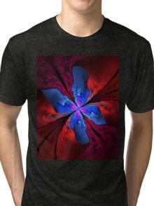 Blue butterfly Tri-blend T-Shirt