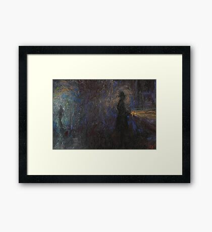 Altered, Early Morning Horror Framed Print