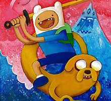 Adventure Time Finn & Jake by Carl Huber