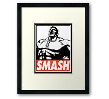 Hulk Smash Obey Design Framed Print