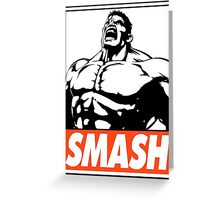 Hulk Smash Obey Design Greeting Card