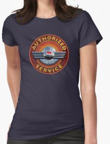 Morris Authorized service sign Womens Fitted T-Shirt