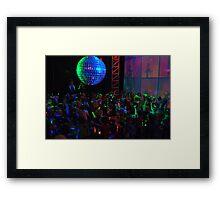 Crowd dancing Framed Print