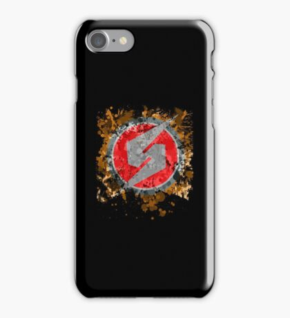 Metroid Symbol Splatter iPhone Case/Skin