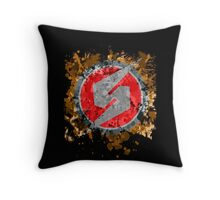 Metroid Symbol Splatter Throw Pillow