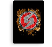 Metroid Symbol Splatter Canvas Print