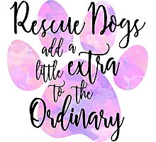 Extraordinary Rescue Dog Watercolor Photographic Print