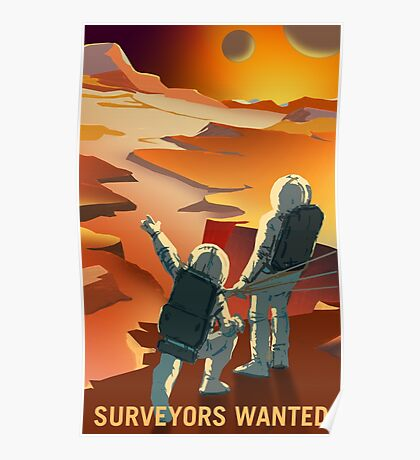 Nasa Mars Recruiting poster - Surveyors Wanted Poster