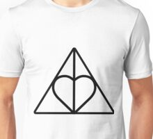 The Deathly Hallows - Heart Unisex T-Shirt