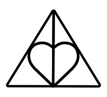 The Deathly Hallows - Heart Photographic Print