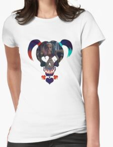Harley Quinn - Daddy's Lil Monster Womens Fitted T-Shirt