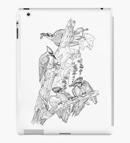 A Party of Blue Jays.  Color Project.  iPad Case/Skin