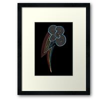 Ornate Rainbow Dash Cutie Mark Framed Print