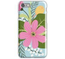 Blooming colorful composition iPhone Case/Skin